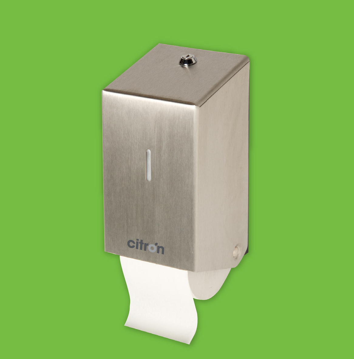Stainless Steel Twin Toilet Roll Dispenser